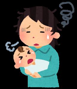 育児疲れのお母さん