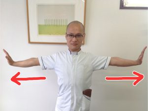 腕のストレッチ1