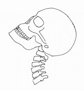 追突を受けた頸部