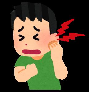耳が痛む人のイラスト